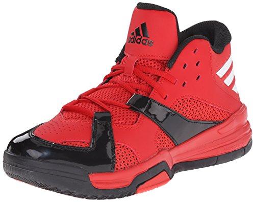 Adidas Performance First Step scarpa da basket, nero / bianco / nero, 6,5 M Us Scarlet/White/Black