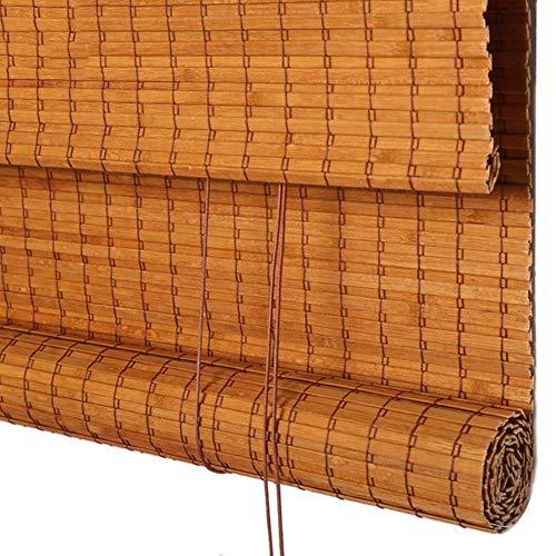 Bambusrollo Bambusjalousien Fenstervorhang Panel Natur ,Bambusrollos ,Raffrollos ,Geeignet Für Trennwände Im Balkon Wohnzimmer Tee Sonnenschirm (größe : 90×160cm)
