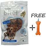 Goofy Tails- Super Bite Puppy Ring Dog Treat (70g, Pack Of 6) With Key Chain