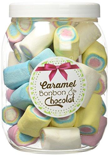 Caramel Bonbon & Chocolat Pot Guimauve Roulée Multicolore 250 g  - Lot de 3