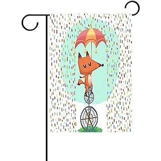 Dozili Garten-Flagge, Cartoon-Motiv, witterungsbeständig und doppelseitig, Polyester, bunt, 12.5