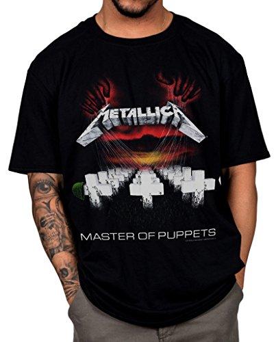 Official Metallica Master Of Puppets Unisex T-Shirt James Hetfield Damaged Rock