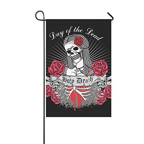 Home Dekorative Outdoor Doppelseitige Heiligen Todestag Toten Mexikanischen Zuckergarten Flagge, haus Hof Flagge, garten Hof Dekorationen, saisonale Willkommen Outdoor Flagge 12 X 18 Zoll Frühling Som