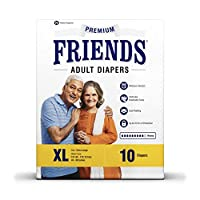 Friends Adult Diapers Premium X-Large (10 Count)