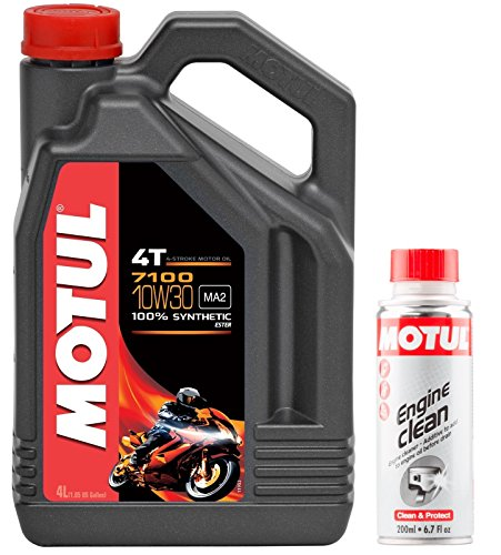 Motul Duo Olio Moto 7100 4T 10W-30, 4 Litri + Engine Clean 200m
