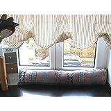 """374 - Burlete o tope de puerta decorativo de tapiz con bonito diseño rústico y texto """"Home"""", impermeabilización óptima, poliéster, Zugluftstopper blau, 20 x 90 cm"""