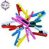 [Pack of 20] [Made in UK] [No Metal] [No Rust] HUSHCO Anti-Rust 100% Hard Plastic Clothes Pegs [5 Years Replacement Warranty]