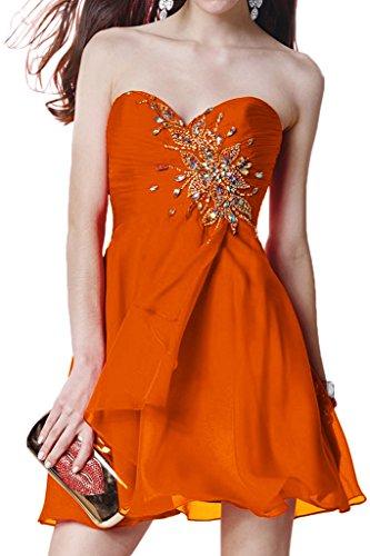 Promgirl House - Robe - Trapèze - Femme Orange - Orange