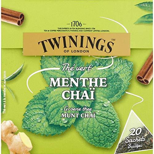 Twinings - 20 Sachets Menthe Chai - Livraison Gratuite pour les commandes en France - Prix Par Unité