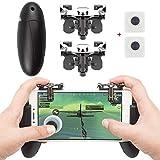 Electronic Arts EAONE Mobile Game Controller, 2 in 1 Gamepad Sensitive Shoot und Aim Fire Trigger mit 2Pcs Joysticks-Controllern für / Überlebensregeln / Messer Für iOS Android 4.7