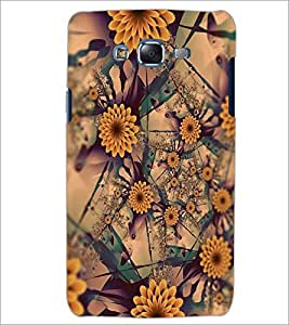 PrintDhaba FLOWER PATTERN D-6647 Back Case Cover for SAMSUNG GALAXY ON7 (Multi-Coloured)