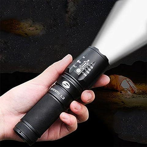 Taschenlampe starke Licht Ladung super helle wasserdichte 5000 Langstreckenjagd Outdoor Militär Haus mit Mini L2LED