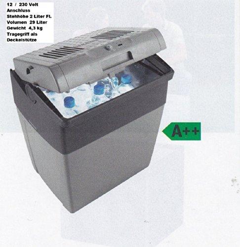 Disponible à partir de 2/2016–glacière wAECO thermoelektrische 29 litres avec câble 12 v pour se tenir bouteilles cX 2 litres - 30–glacière-refroidissement : max. 18 °c sous la température ambiante de l'exploitation alimentation : 12/230 v-capacité : 29 litres distribution-par-holly ® produits sTABIELO ®-holly-sunshade ® brevetée innovation dans le domaine de travail mobile-pare-soleil universel-fabriqué en allemagne -