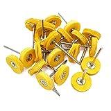 Cnmade, set di ruote da lucidatura, adatte ad utensili rotativi Dremel, con perni da 2,35mm, 20pezzi