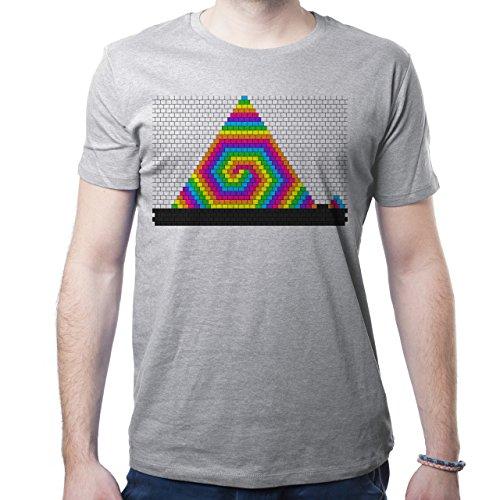 Illuminati Triangle Art Majestic Rainbow Edition Herren T-Shirt Grau