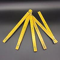 SODIAL Regla plegable de medicion DIY Regla de palo de yarda de madera multifuncional Instrumento de