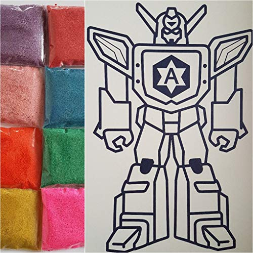RAP Kids Sand Art Picture Kits (Transformer)