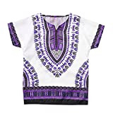 Julhold Junge Mädchen Kinder Baby Freizeit Unisex Helle Afrikanische Farbe Kind Dashiki T Shirt T Tops Sommer 2-7Jahre