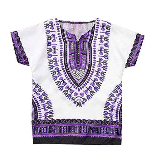 Yanhoo Junge Mädchen Kinder Baby Unisex Helle Afrikanische Farbe Kind Dashiki T-Shirt T Tops Jersey Shirt für Babys Rock Baby T-Shirt