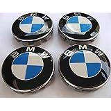 4 x naafdoppen / naafdop met BMW-logo 68 mm blauw wit versiering voor velgen van legering