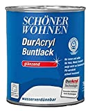 Schöner Wohnen DurAcryl Buntlack glänzend, Purpurrot RAL 3004 / 750 ml / PU-verstärkter Qualitätslack