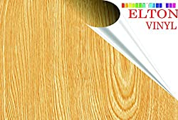 Elton Maple Oak Wood Adhesive Decorative Vinyl Shelf Liner 24 X 48 Inches