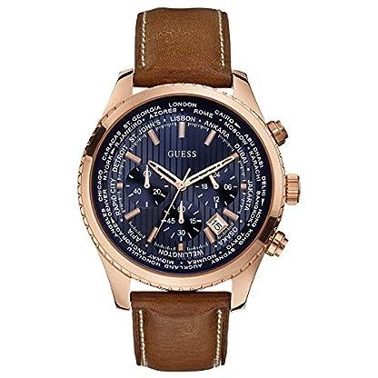 51a1kccZTCL. SS416  - Guess Reloj con Correa de Piel, para Hombre W0500G1