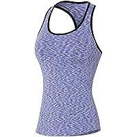 Icegrey a compressione per donna Dry Fit Tank top, donna, Purple, XXL