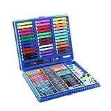 Set de peinture pour enfants crayon aquarelle crayon de couleur couleur plomb solide aquarelle peinture art peinture apprentissage brosse (150 pièces) (Color : Blue)