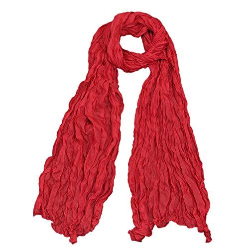 CANDLLY Schal Damen, Breathable bequemer Punkt-Druckschal Mode-Retro weiblicher Mehrzweckschal-Schal(Rot,One ()