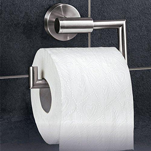 Dailyart Toilettenpapierhalter Toilettenpapierrollenhalter Klopapierhalter Klorollenhalter Klopapierrollenhalter Kleben Ohne Bohren, Edelstahl, Gebürstet -