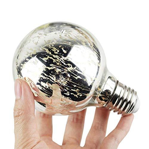 YANKAN Edison GlüHlampe EIS Wolken Birne Sturm Silber Blume SMD Led Energie Blase Speichern GlüHbirnen Halloween Deko Leuchtmittel E27 5W 220V (80 * 110Mm)