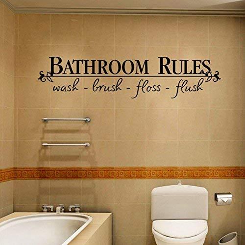 YJYDADA Wand Aufkleber, abnehmbaren DIY wandsticker wandgemälde zu Hause Aufkleber dekor für Bad, 58cm x 13cm