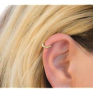 Knorpel Ohrring Hoop Draht gewickelt Gold Helix Piercing Ring Ohrpiercing Ohrknorpel Ohrringe Helix-Reifen Knorpelring