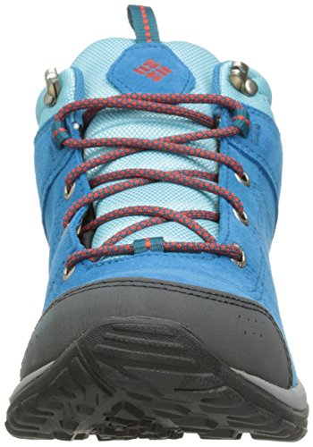 Columbia Fire Venture Mid, Chaussures Multisport Outdoor Femme Bleu (Oxide Blue/Spicy 473)