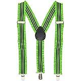 Widmann 00600 - Neonfarbene Hosenträger mit Rüschen