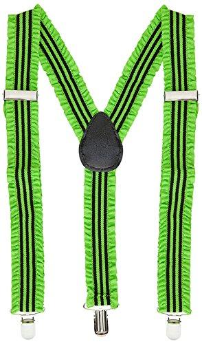 (Widmann 00605 - Neonfarbene Hosenträger mit Rüschen, Sonstige Spielwaren)