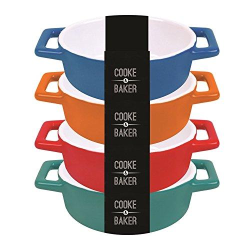 Set bestehend aus 4 Kleines Ovales Tapas/Lasagne/Auflaufformen (W x H x 10 x 19 x D5cm) + frei von Mason Cash ist aus Bambus Pfannenwender/Schlitzwender, kann diese Überprüfung for a Volle Rückerstattung £5,00 -