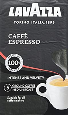 Lavazza Espresso Ground Coffee, 250 g, Pack of 12