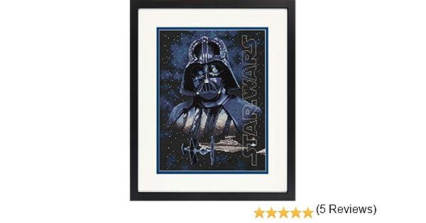 Dimensioni 70-35381 Star Wars Darth Vader Kit punto croce nero 14 Count Aida 22,9 x 30,5 cm,