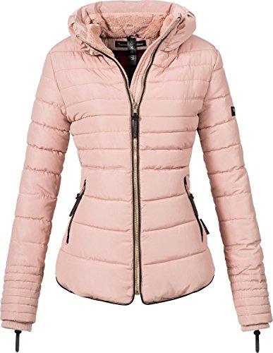 Marikoo Damen Winterjacke Steppjacke Amber (vegan hergestellt) Rosa Gr. XL
