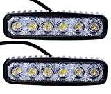 Kaigeli Arbeitslicht 18W LED Offroad Flutlicht Spotlight Reflektor Scheinwerfer Arbeitsscheinwerfer, 1600LM, IP67,12V 24V Flutlicht Weiß Per Set (2 Stück)