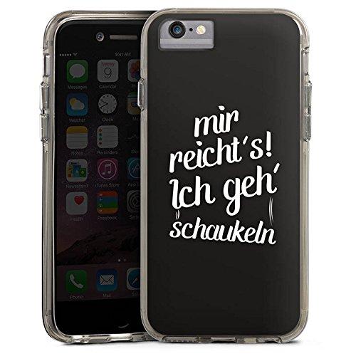 Apple iPhone 7 Bumper Hülle Bumper Case Glitzer Hülle Sprüche Phrases Sayings Bumper Case transparent grau