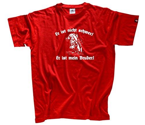 Er ist nicht schwer-Er ist mein Bruder Soldat Bundeswehr T-Shirt Rot S