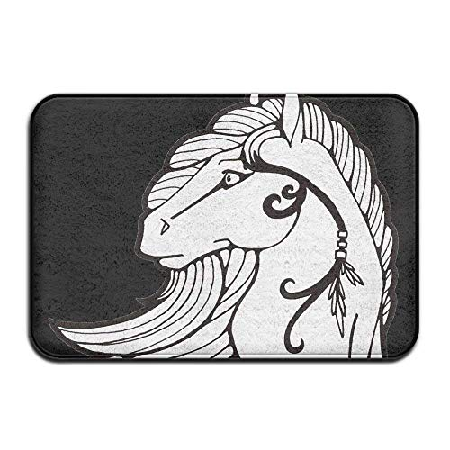 Miedhki Horse Made to Measure Super Soft Thin Coral Velvet 23.6x15.7 inch Easy Clean Rubber Door Mat Rectangular Paillasson