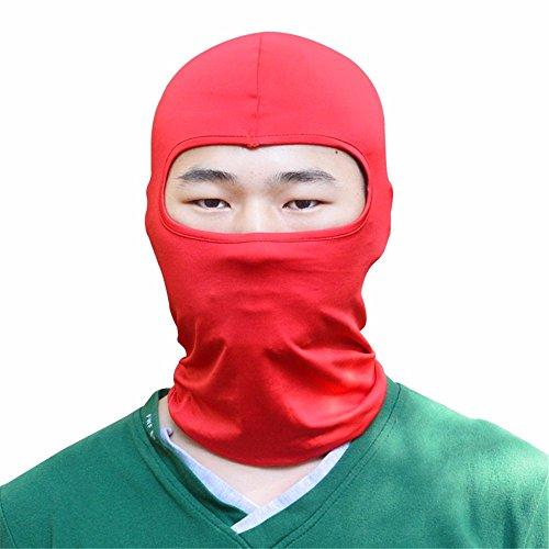 Anti-Sun Maske Motorrad Ausrüstung atmungsaktiv winddicht Kopf Maske perücke Outdoor Reiten Sonne, Rot (Roten Kopf Perücken)