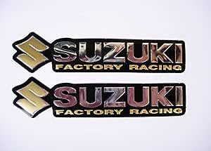 3d Gold Chrome Suzuki Stickers Decals Aufkleber Set Of 2 Pieces Küche Haushalt