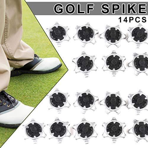 Starmood 14 Pezzi Scarpe da Golf Chiodi Perni Ricambio Rapido Chiodi Antiscivolo Portatile per Allenamento
