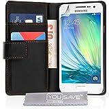 Yousave Accessories Samsung Galaxy A5 Tasche Schwarz PU Leder Brieftasche H�lle