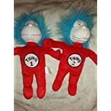 Thing 1 and Thing 2 Dr. Seuss Cat in the Hat ; Plush Toy Set of 2 Collectible 12 by Official Movie Merchandise